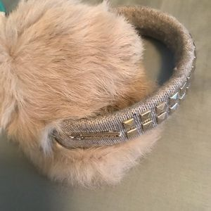 Michael kors gray fur earmuffs